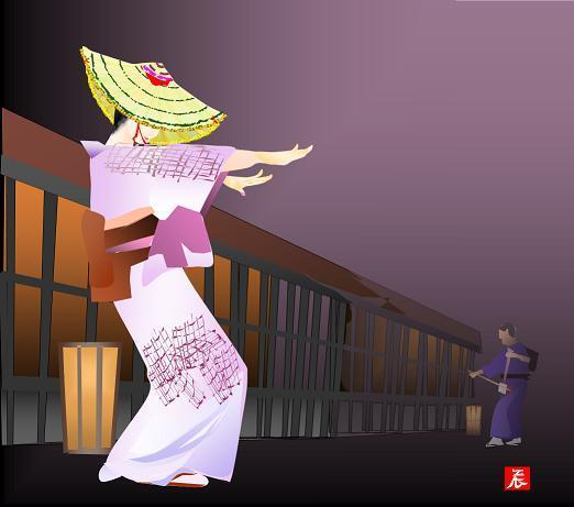 盆踊り・風の盆=堀内さん提供