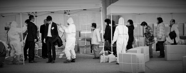 2回目の原発爆発があった2016年3月14日、福島県郡山市には、いわき市などから約4千人の人々が被曝検査に訪れた=福島県郡山市、水野義則撮影