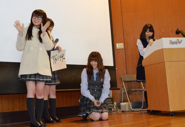 握手会で学んだことについて大学生の前でプレゼンした乃木坂46のメンバーたち