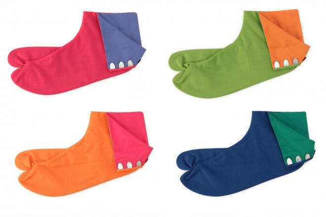 福助が今月から販売を始めたカラー足袋