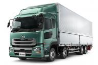 2014年モデルの自動ブレーキ誤作動が明らかになった大型トラック「クオン」
