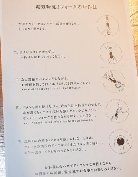 電気味覚フォークの使い方