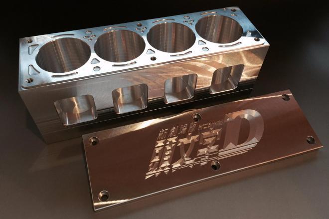 アルミ削り出しでハチロクのエンジンブロックを再現したプリンケース