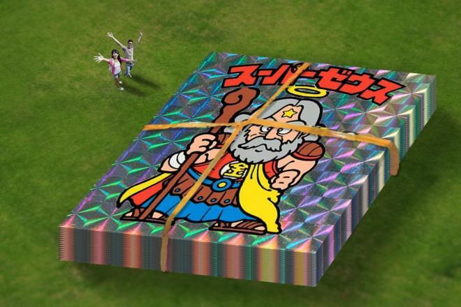 ロッテが特設サイトに公開した「ビッグリマン」構想。シールの大きさは一辺13.4m