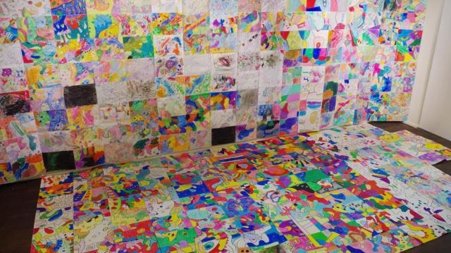 アートプロジェクト「SORA」=協力・ギャラリーキッサ、台東区蔵前