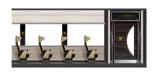 新たに導入される「京阪特急プレミアムカー」の内部イメージ