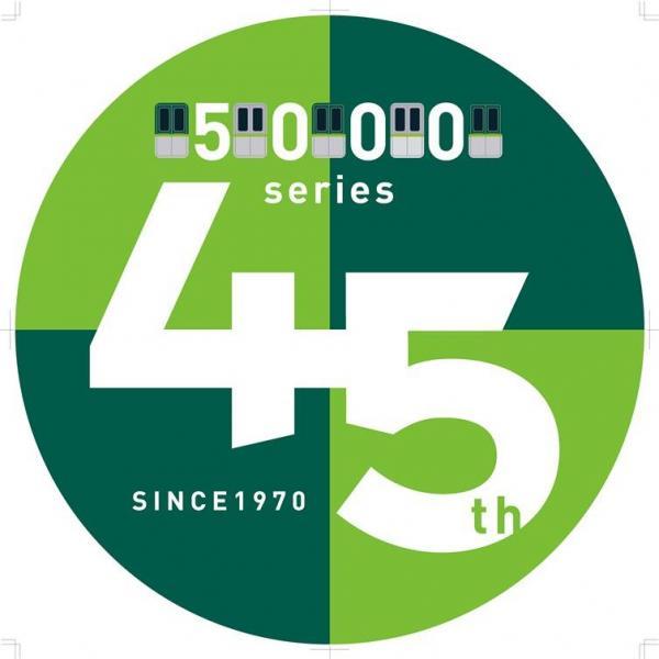 5000系の45周年記念ヘッドマーク