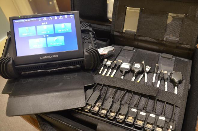 サン電子が100カ国に納入している、スマホを対象にした捜査機器