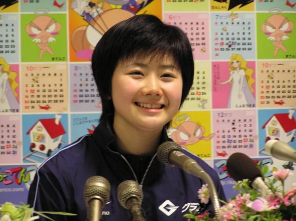 【2005年4月22日】世界選手権の抱負を語る福原愛選手