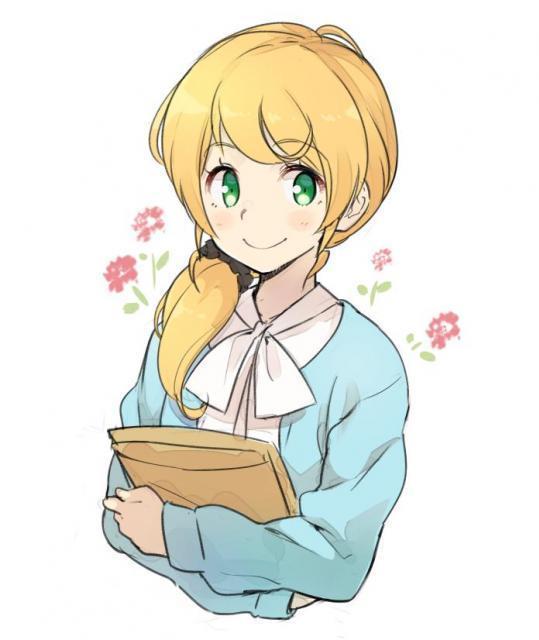 エレン先生のラフ画。友達感覚のお姉さんをイメージ。教科書に掲載されたものとは異なります=電柱棒さん提供