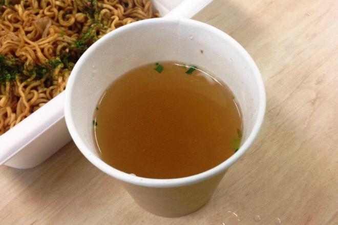 できあがった中華スープ