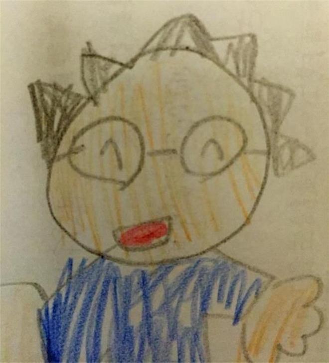 娘が描いたkasumiさんの似顔絵