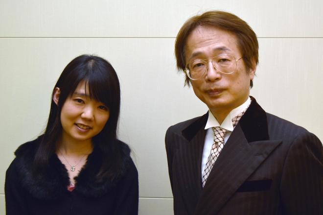 JAPAN MENSAの竹市悟己議長(右)と会員の坂本香苗さん