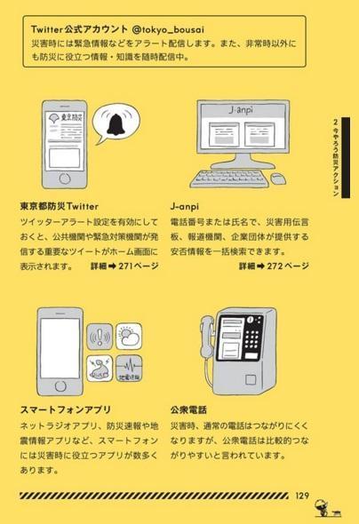 東京防災から「安否確認と情報収集」