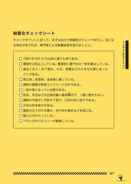 東京防災から「耐震化」