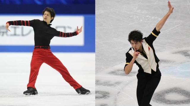 2011年12月の全日本選手権で美しいイーグルを披露(左)、2013年12月の全日本選手権SPで3位につけた(右)