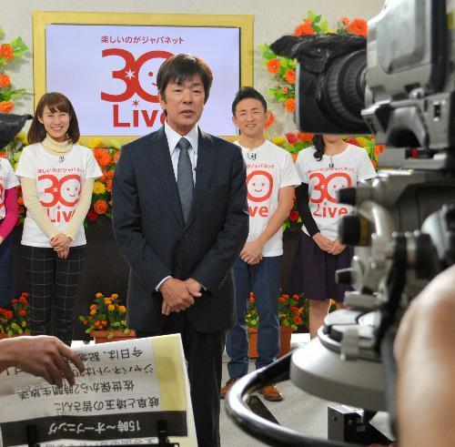 最後のテレビ出演に臨むジャパネットたかた創業者の高田明前社長=2016年1月15日