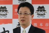 熊本市の大西一史市長。写真は今年の年頭記者会見の様子