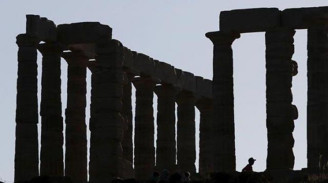 ギリシャのポセイドン神殿=ロイター