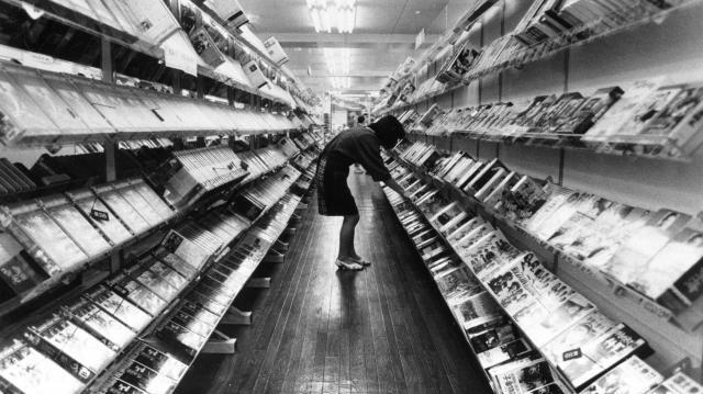 1988年当時のビデオレンタル店
