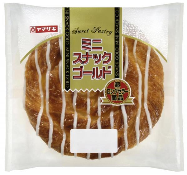 ヤマザキ菓子パン人気投票2位:ミニスナックゴールド 「ミニって名前なのにミニじゃ無い感じが最高!!甘い砂糖が大好きです!(30代女性)」