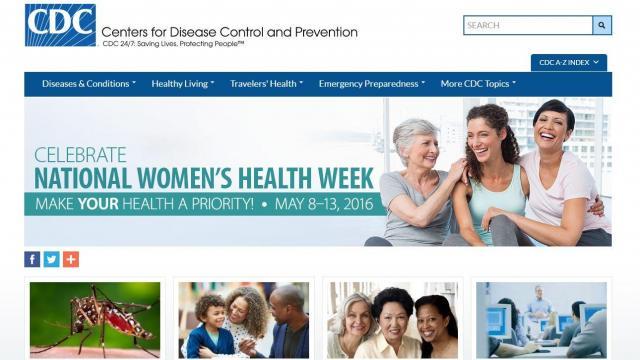 米疾病管理センター(CDC)のサイト