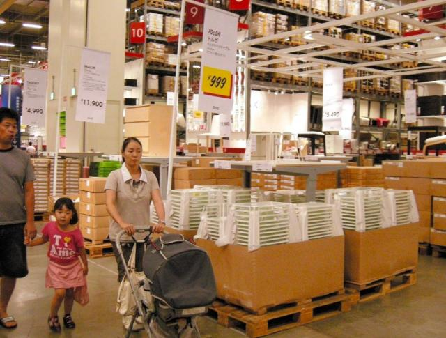 IKEA船橋(当時)の店内=2009年7月27日
