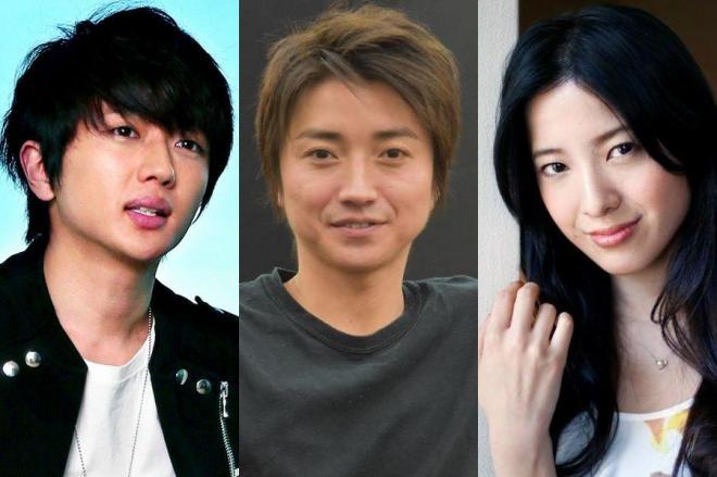 蜷川幸雄さんの指導を受けた西島隆弘さん(左)、藤原竜也さん(中)、吉高由里子さん(右)