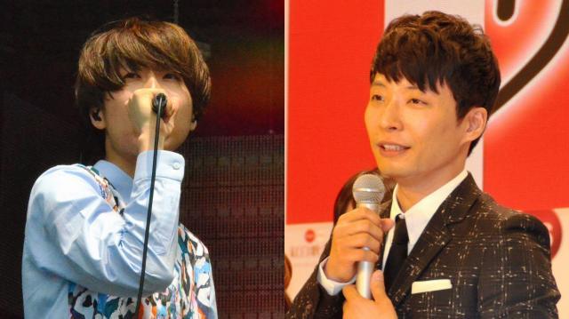 ソロアーティストの岡崎体育さんについて川谷絵音さん(左)は「面白すぎる」とツイート、星野源さん(右)もラジオで「最も気になるアーティスト」として紹介