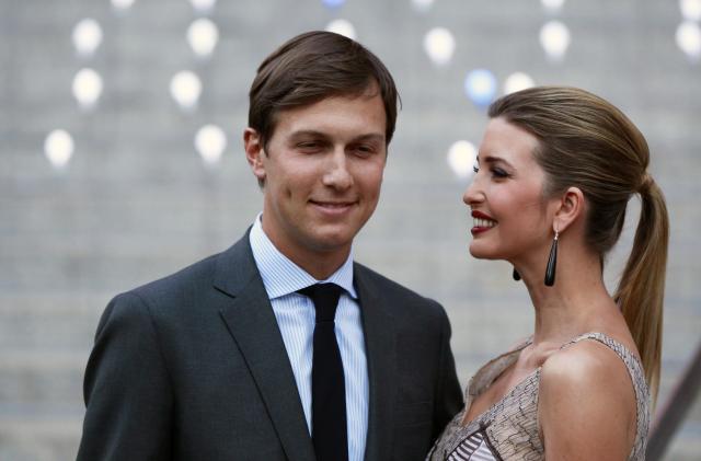 夫のJared Kushner氏と一緒のイヴァンカ氏=2012年4月