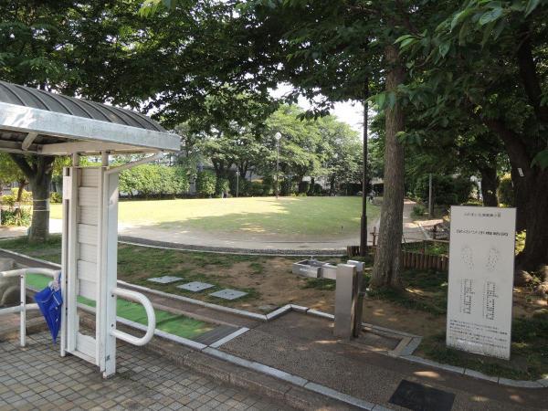 敷地内の工場跡地は公園になっていて、一般の方も利用できる