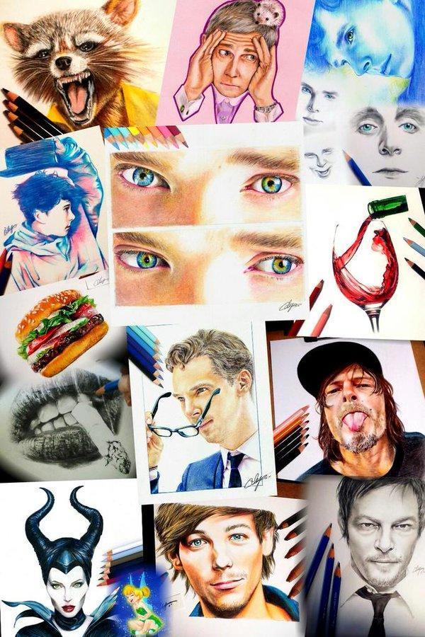 色鉛筆画の数々