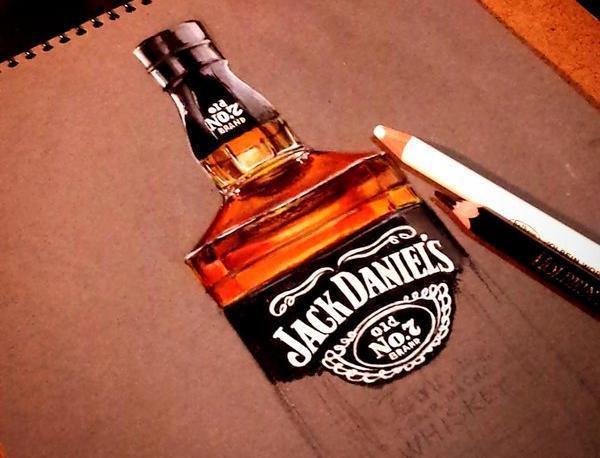 ウィスキーを描く