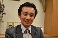 国会でタトゥー規制について質問した初鹿明博衆院議員=東京・永田町