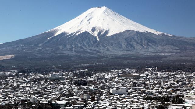 世界遺産にもなった富士山