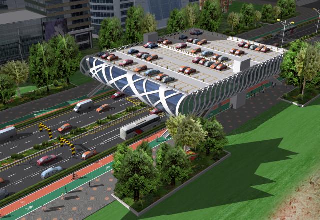 都市部立体空間利用の構図