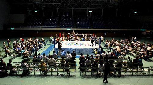 女子プロレスの殿堂「川崎市体育館」=2011年9月10日