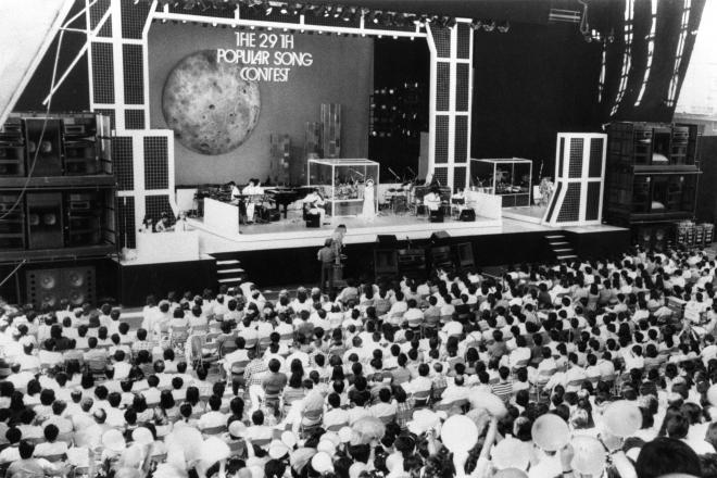 ポピュラー・ソング・コンテスト「ポプコン」の本選会の様子=1985年