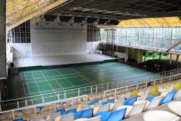 ポプコン本選会の舞台となったエキジビションボール=静岡県掛川市のつま恋