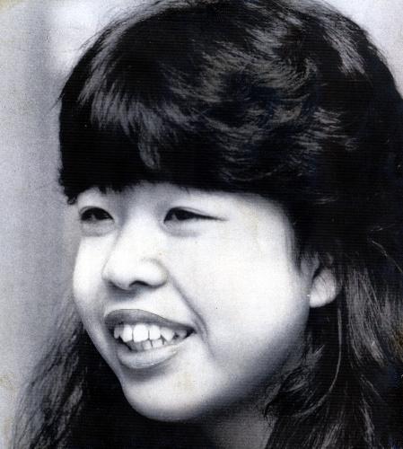 女子高生でポプコングランプリを受賞した壁沢磨香(かべさわ・まこう)さん=1983年5月