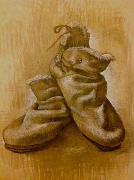 デッサン・オニツカタイガーの靴