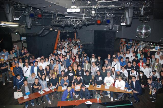 改正風営法の成立を前に、東京・渋谷のクラブに集まったDJやラッパーら=2015年5月
