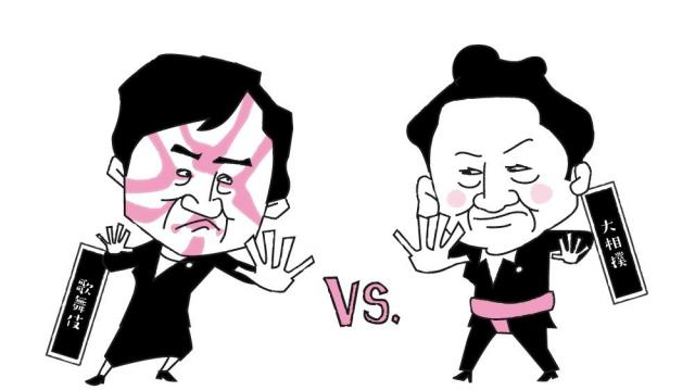 大相撲vs歌舞伎=グラフィック・米澤章憲