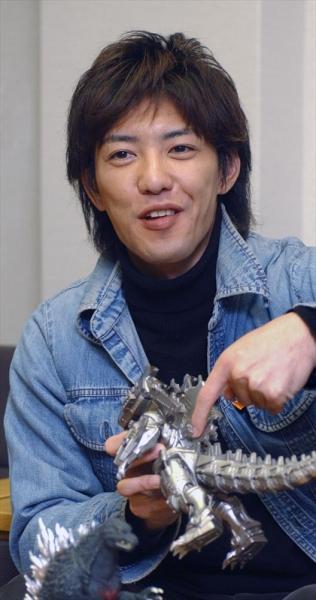 ゴジラにも出演した元ガオレンジャーの金子昇さん=2003年11月20日、東京都内で