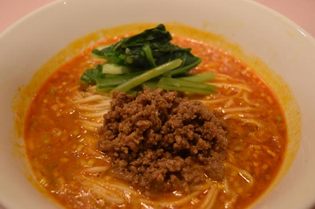 陳建民氏が日本で考案した担々麺=東京都千代田区の赤坂四川飯店本店