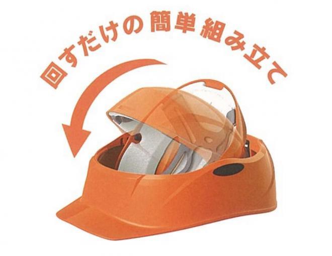 こちらは市販されている「クルボ」。頭頂部がクルッと回転することで、A4サイズの箱にいれたまま本棚や引き出しに収納できる