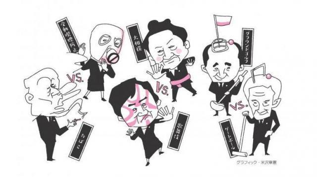 【たばこ】vs【受動喫煙防止】、【歌舞伎】vs【大相撲】、国会議員の「議連」を擬人化してみると…=グラフィック・米澤章憲