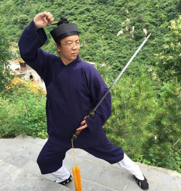 太極剣の練習