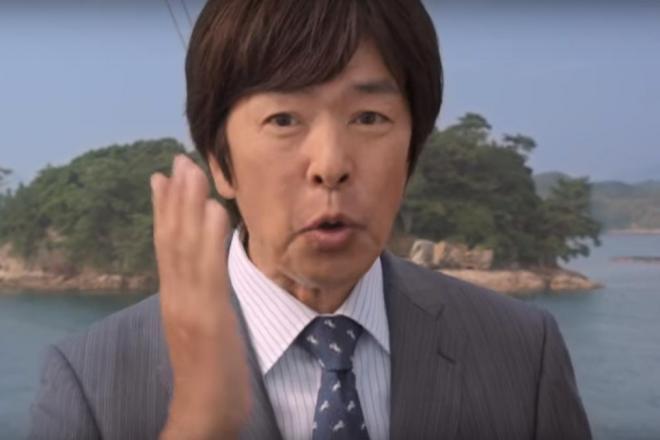 高田明さんが出演しているCMの一場面