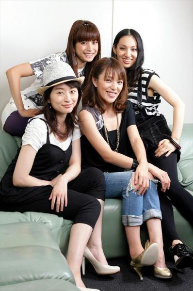 再結成したSPEEDのメンバー=2009年7月21日